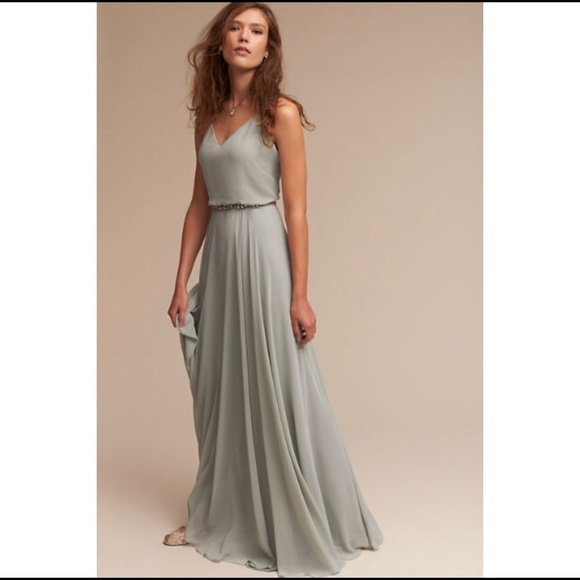 """aeff0a6eff93e NEW BHLDN Jenny Yoo Inesse Dress, Size 16. M_5b82e00a74359bae753a14e8.  Other Dresses you may like. BHLDN by Anthropologie """" ..."""